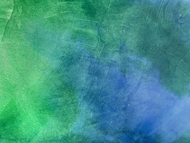 오래 된 필 링 벽을 모방하는 질감 장식 청록색 석고