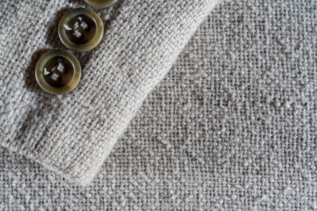 The texture of a dense white woolen fabric. close-up textile background.
