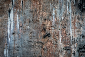 Texture details of rock cliff on the island of the sea kra bi Thailand