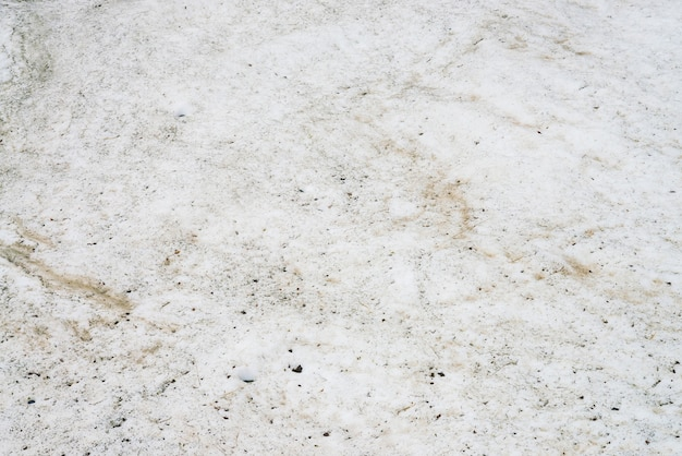 Texture of dirty snow close up