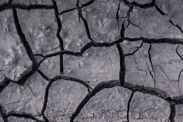 Texture of dried earth. the dried up and cracked earth in the desert, mud, sand, destruction, mud, natural phenomena