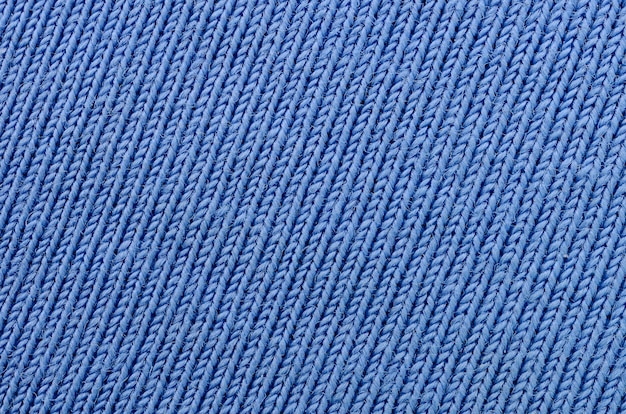 The texture of the fabric in blue
