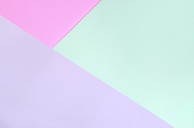 Texture of fashion pastel colors. pink, violet and blue geometric pattern papers.