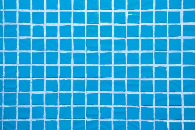 Texture of fine little ceramic tiles. blue floor tiles