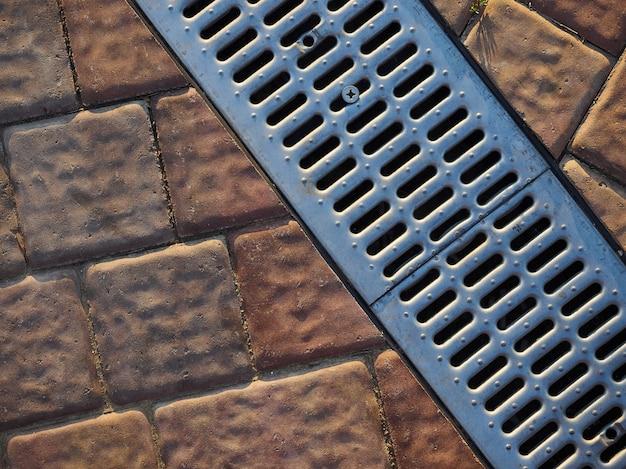 Текстура пол металл камень плитка решетка витый городской текстура фон