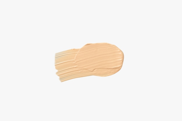 Texture of foundation for makeup isolated