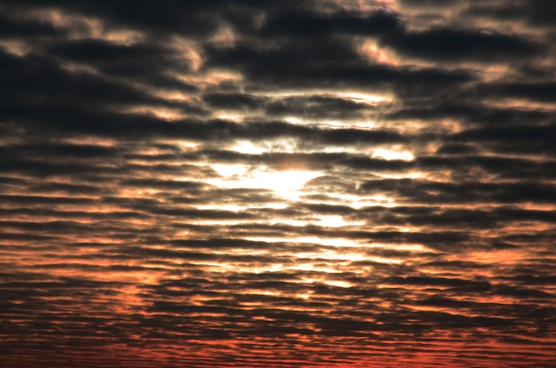 Texture of a gloomy cloudy sky at dawn