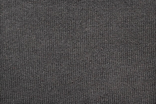 Texture of gray knitted fabric, close-up