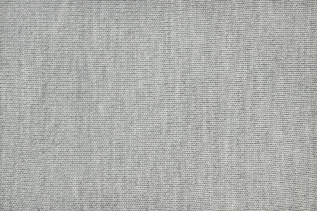 Texture of gray knitted fabric