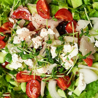 Texture of a healthy greek salad