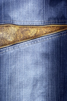 Texture of jeans with zipper