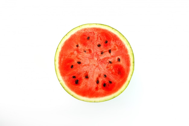 Texture of the juicy pulp of red watermelon