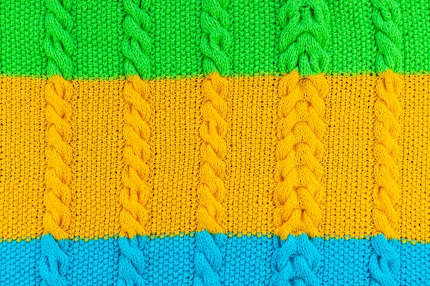 The texture of the knit