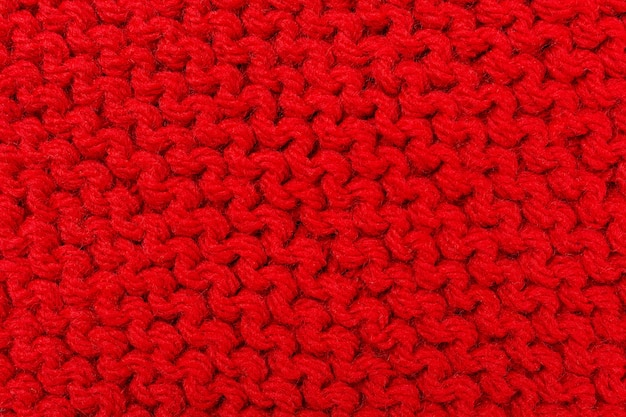 Texture knitting for red color