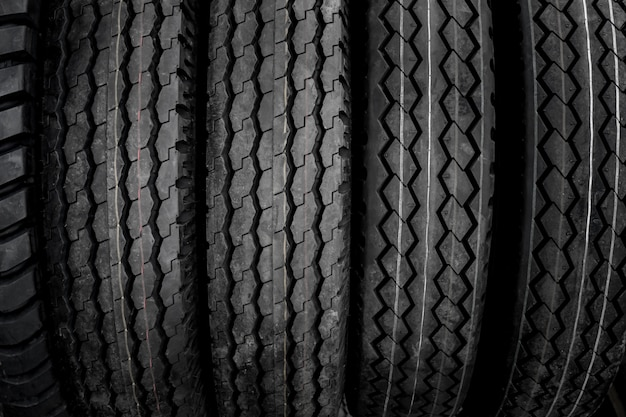 Texture of large tires.