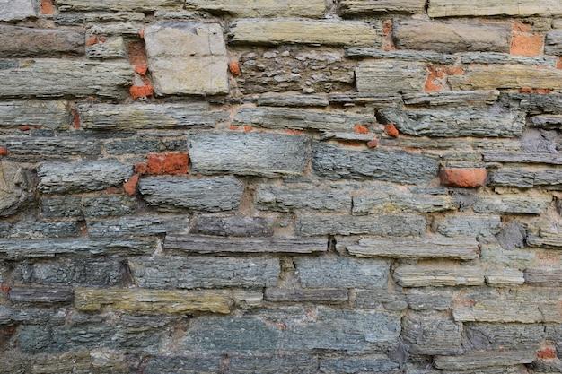 Фактура облицованная камнем на стене, разных форм и оттенков на весь каркас