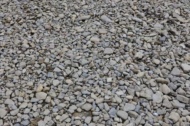 Texture of many crushed stones. crushed stone is a solid base material for foundation