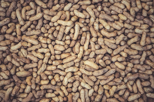 Texture of many peanuts are dried in the sun