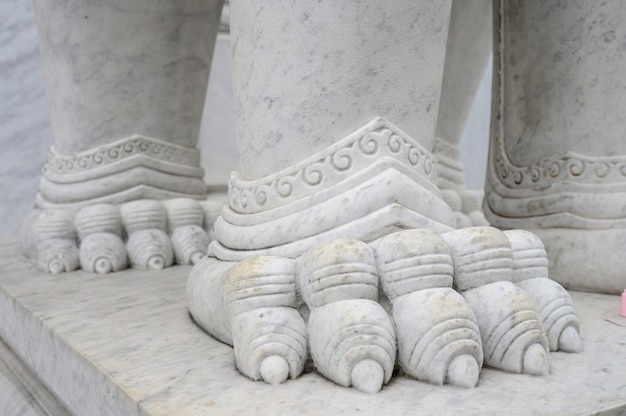 Texture marble detail statue in buddhism temple