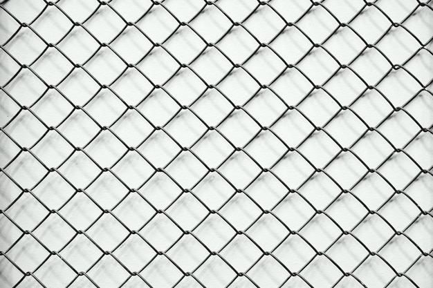 Texture mesh chain-link in a row, white background