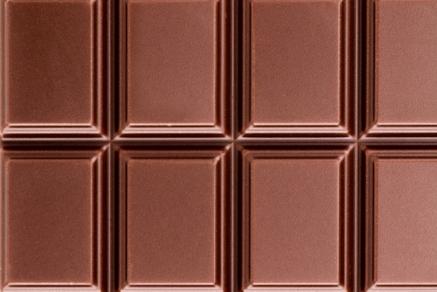Texture of the milk chocolate bar from top view.