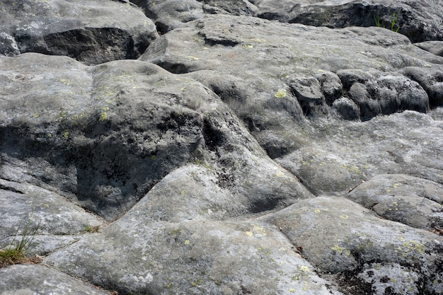 Texture of mountain rocks polished by winds and rains.
