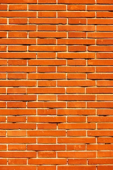 Texture of new red brick wall - vertical background