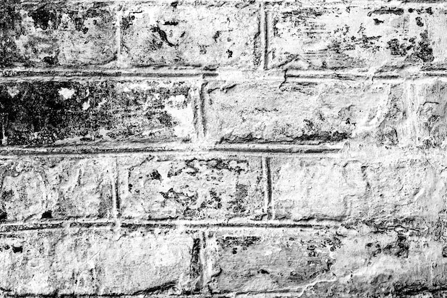 균열 및 스크래치 배경으로 벽돌 벽의 질감