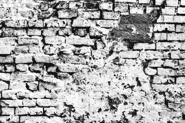 Текстура кирпичной стены с фоном трещин и царапин
