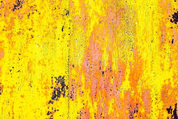 背景として使用できるひびや傷のある金属壁の質感