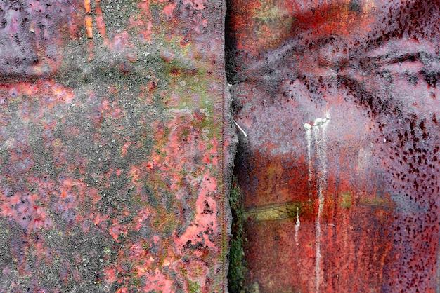 錆びた金属壁の質感