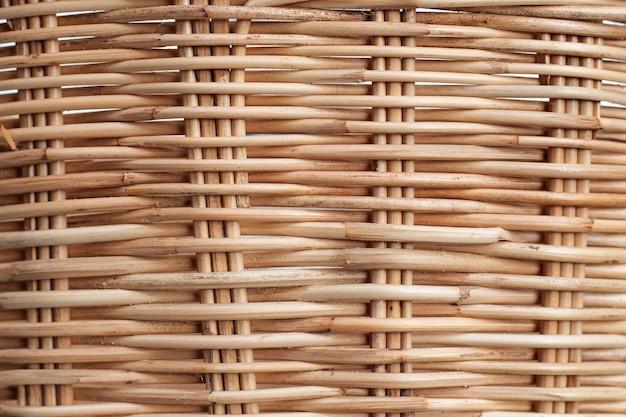 Текстура плетеной корзины ивы.