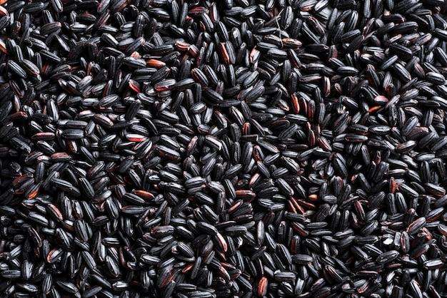Текстура черного риса
