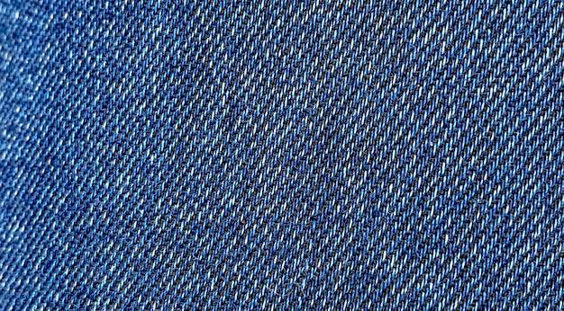 배너 형식의 블루 스트레치 데님 클로즈업의 질감.