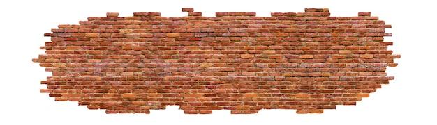 レンガの壁の質感高品質、白で隔離