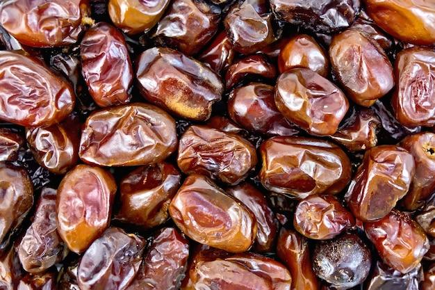 대추의 갈색 말린 과일의 질감