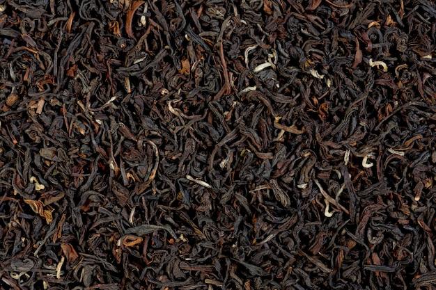 Текстура чая дарджилинг загорается. макро фото