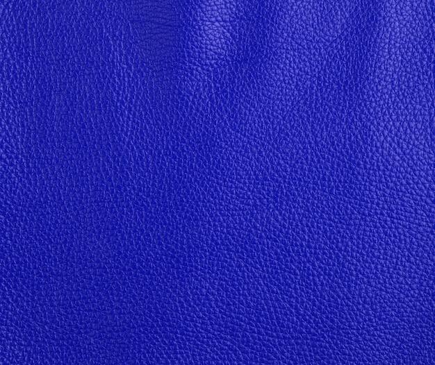 Текстура темно-синей коровьей кожи, полный кадр