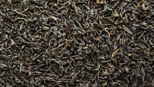 乾燥した紅茶の葉のテクスチャ