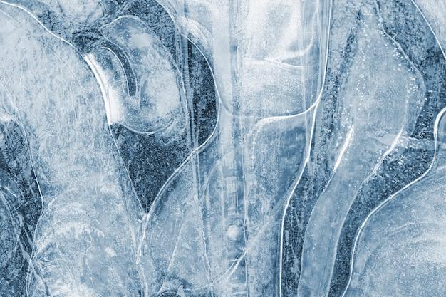 Текстура замороженной лужи на открытом воздухе
