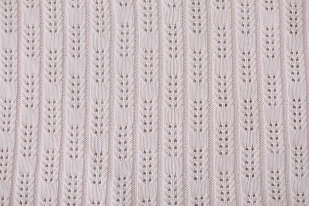 벽지와 추상적 인 배경을위한 니트 모직 직물의 질감