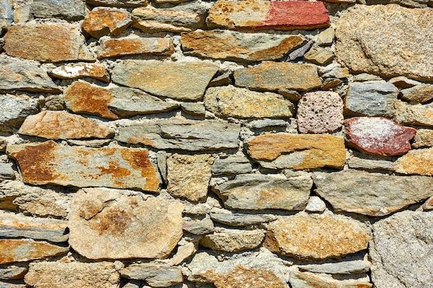 거친 돌의 벽돌 질감 - 배경