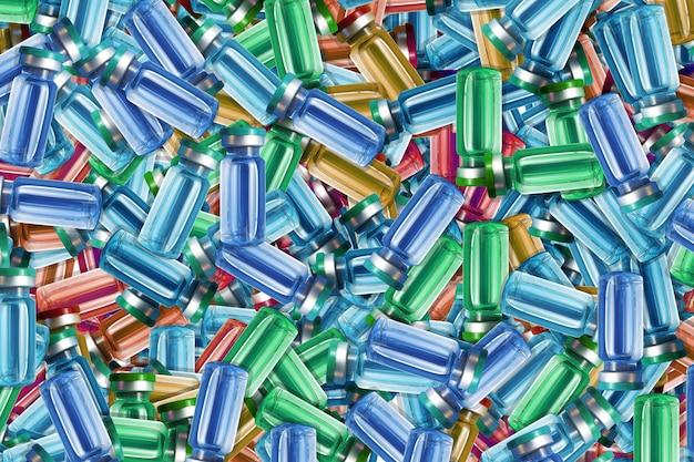 Текстура разноцветных ампул с лекарствами