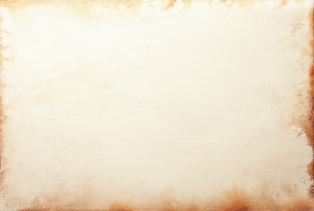 Текстура старой бежевой бумаги с пятном кофе, скомканный фон. винтажная поверхность песка. структура крафтового картона.