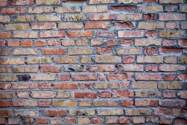 갈색 색상에 오래 된 벽돌 벽의 질감