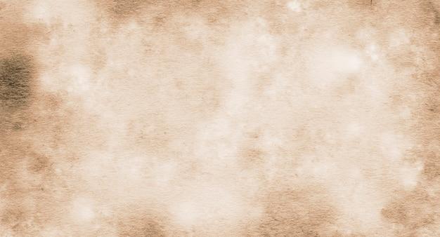Текстура старой коричневой бумаги в пятнах и полосах с пространством для текста для дизайна