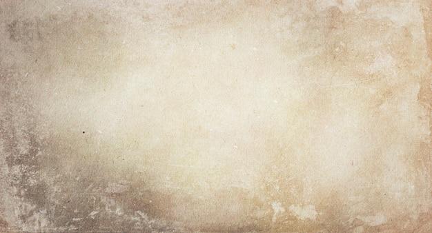 공간 사본이 있는 오래된 밝은 베이지색 종이의 질감