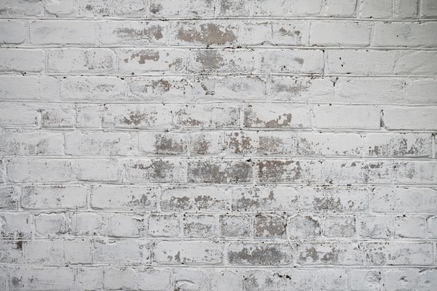 古いヴィンテージの白いレンガの壁のテクスチャ