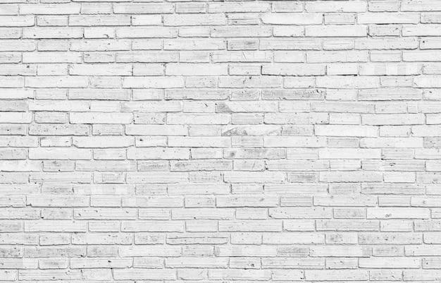 古い白いレンガの壁の大きな背景のテクスチャ。