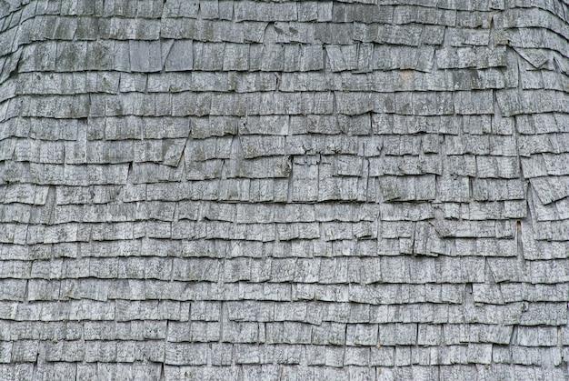오래 된 나무 지붕 널의 질감